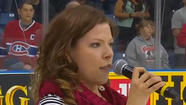 Canadian singer messes up American National anthem at hockey game
