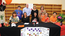 George Rogers Clark senior Amy Kao signed an athletic and academic scholarship to play volleyball at Georgetown College Thursday at the school. Kao, center, is joined on the front row by George Rogers Clark volleyball coach Robyn Curry, Georgetown College assistant volleyball coach Amy Barmore, sister Kaylee Kao, mother Jannie Kao and father Frankie Kao. Back row is team manager Nevada May, YMCA coaches Wayne Sharp and Debbie Fatkin and coach Carol Schochler.