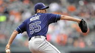 BALTIMORE - Runner at third base and one out in the third inning? No problem. Matt Moore pitched his way out of the jam.