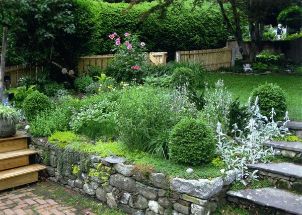 A view of Bill and Penny Doyle's garden at 45 High St. It is part of a national series of garden tours planned for June 1 and 2.