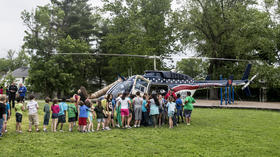Photo Gallery: Air Evac visit at Jennie Rogers Elementary School