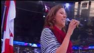 Watch: Singer forgets words to Star-Spangled Banner at hockey game
