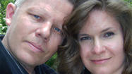 Kimberly Moyers & Don Carlsson were married May 18, 2013 in a private garden ceremony at Pine Manor with their family. Kim wore a beautiful long white gown with golden glitter. The couple plan a reception later in the evening. Rev Pamela IL Wedding Officiant, officiated the ceremony at 11:30am so the couple could watch the Black Hawks Game It took place in the officiant's home Pine Manor located in Mount Prospect, IL. The 1920's Dutch Colonial home features a beautiful garden and a bridal suite where the bride prepared before the ceremony. This unique wedding venue offers an intimate, home elegance perfect for a small guest list of up to 30, or a private elopement to Chicagoland's Northwest suburbs. 847-873-7463 8-8pm CST please. http://smallpartyvenue.com packages include In-home catering and all event planning