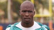 Former NFL star Chad Johnson was arrested Monday on charges that he violated probation stemming from a domestic violence incident involving his former wife, Evelyn Lozada.