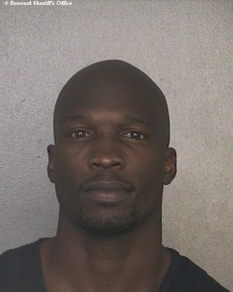 Chad Johnson, former NFL star, booked into Broward Main Jail Monday.