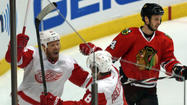 Red Wings feel Blackhawks series restarts in Game 3