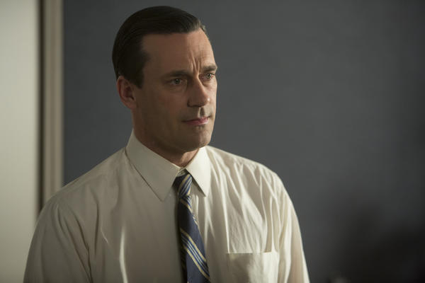 "Don Draper (Jon Hamm) pines over his latest mistress in ""The Crash,"" in Season 6 of ""Mad Men."""