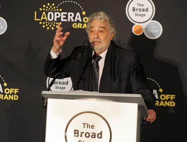 "Placido Domingo at the opening night after-party of ""Dulce Rosa"" on Friday, presented by the Broad Stage and L.A. Opera at the Broad."