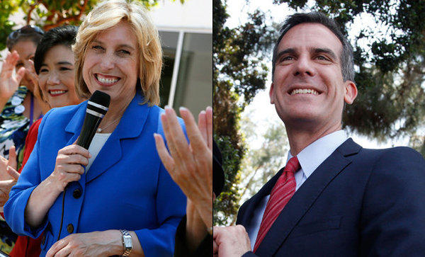 Wendy Greuel and Eric Garcetti