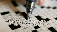 Crafting a crossword puzzle.