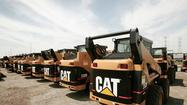 Caterpillar, the world's largest maker of construction and mining equipment, said Monday that demand for its machines continued to show weakness last month, led by a continued decline in Asia and a steeper fall in North America.