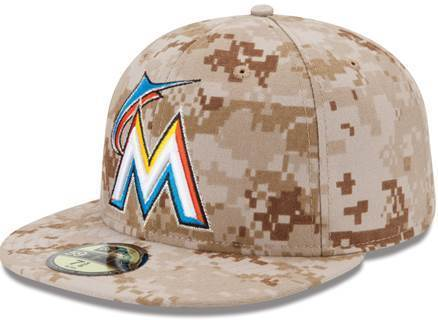 The Marlins will wear special caps on Memorial Day (May 27, 2013).