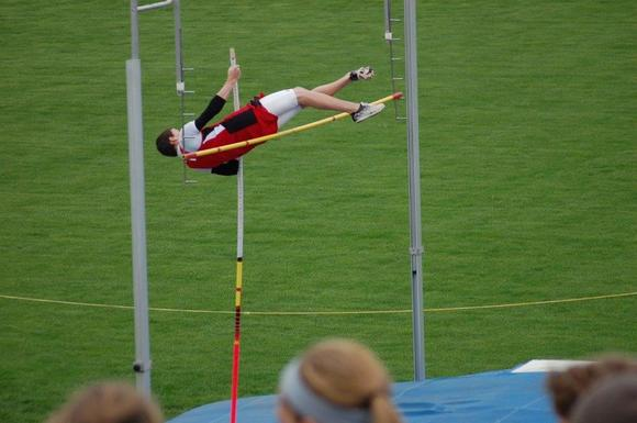 Saint Alphonsus Seventh Grader Declan Ritzenthaler Takes First in IESA Pole Vaulting Competition