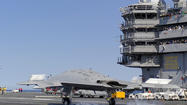 Photo:  Navy completes touch-and-go carrier landing with X-47B