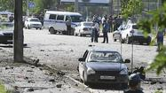 MAKHACHKALA, Russia (Reuters) - Two car bombs killed at least four people and wounded dozens of others on Monday in one of the bloodiest attacks this year in Dagestan, a turbulent province in Russia's North Caucasus region where armed groups are waging an Islamist insurgency.