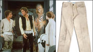 "A pair of pants worn by Mark Hamill as Luke Skywalker in the 1977 movie ""Star Wars"" are up for bid through Nate D. Sanders Auctions, which expects them to fetch somewhere between $70,000 and $100,000."