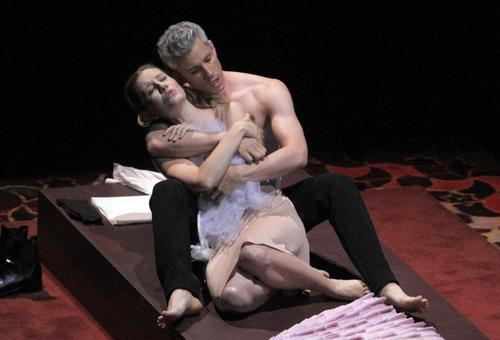 "Malin Christensson as Susanna and Edwin Crossley-Mercer as Figaro in opening night of L.A. Philharmonic's production of the opera ""Marriage of Figaro"" at Walt Disney Concert Hall. <br><br> <b>REVIEW: </b> 'Marriage of Figaro' a wedding of many talents"
