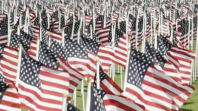 Field of Flags for Memorial Day Weekend in Catonsville