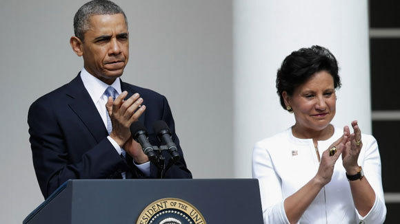 President Barack Obama nominates Penny Pritzker to be Commerce secretary this month at the White House.