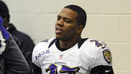 Two guns and cash were stolen in a weekend burglary at the Reisterstown home of Baltimore Ravens running back Ray Rice, Baltimore County police confirmed.