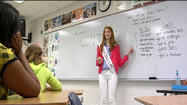 A Lynchburg pageant winner is using her crown to share a message about depression.