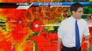 VIDEO: TV news team heads to shelter during tornado coverage