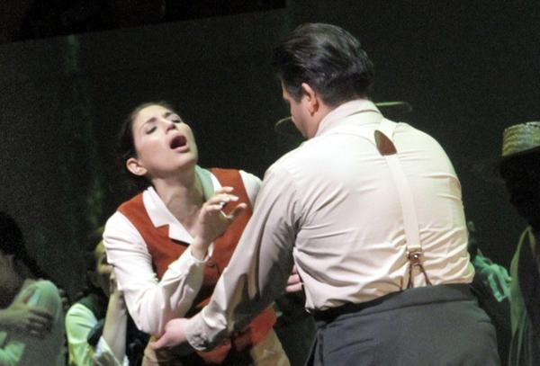 """Benjamin Bliss, left, Maria Antunez and Alfredo Daza are featured in """"Dulce Rosa"""" at the Broad Stage in Santa Monica."""