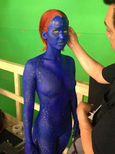 Jennifer Lawrence as Mystique in 'X-Men'