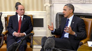 WASHINGTON -- President Obama welcomed Myanmar President Thein Sein to the White House on Monday with tokens of encouragement as the former military ruler pushes democratic reforms in the once-authoritarian Southeast Asian nation.