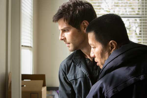 "David Giuntoli, left, and Reggie Lee in ""Grimm"" on NBC."