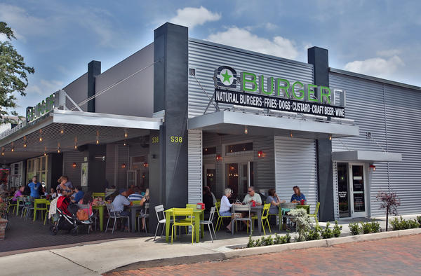 Burger Fi and other eateries along Park Avenue in Winter Park, on Thursday, May 16, 2013.