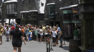 "Universal Studios in Hollywood will <a href=""http://variety.com/2013/biz/news/universal-paves-way-for-harry-potter-1200411501/"">raze</a> the 41-year-old Gibson Amphitheatre to make way for its coming Harry Potter attraction, the Wizarding World of Harry Potter. Like the Wizarding World in Orlando, the Hollywood Harry Potter will be a theme park based on J.K. Rowling's ""Harry Potter"" books and the films made from them."