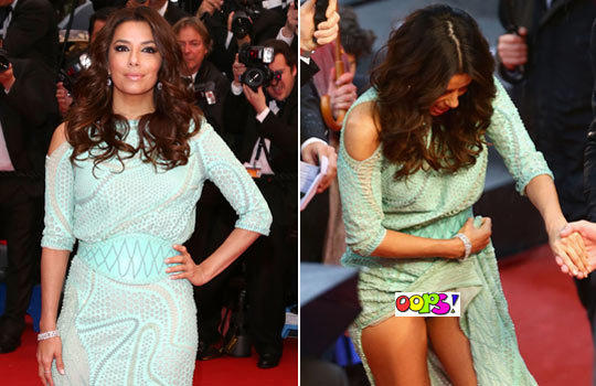 At the 2013 Cannes Film Festival, Longoria picked up her dress to keep
