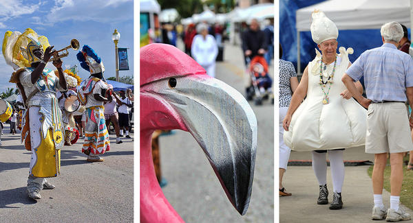 Delray Beach has several festivals during the year like the Spady Living Heritage Festival, left, the Downtown Delray Beach Holiday Art and Craft Festival, center and the Garlic Festival.
