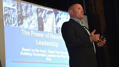 Former military intelligence officer talks to Rotary group about ethics, integrity
