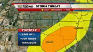 Storm Team 12: Severe threat stays south