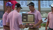 History was made at the 2A boys state golf tournament in Dodge City. Oberlin-Decatur Community High School won their first team state title with a team score of 339. Elkhart senior Hunter Burnett gave the Wildcats their first state golf champion shooting a 75. Burnett has not shot less than an 80 all season and said he surprised himself.