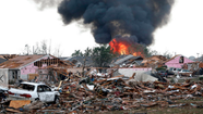 "Firefighters from Los Angeles and Orange counties were being dispatched Monday night to help with rescue operations in Oklahoma, where a <a href=""http://www.latimes.com/news/nation/nationnow/la-na-nn-moore-oklahoma-tornado-search-rescue-0130520,0,6883132.story"" target=""_blank"">masive tornado left at least 51 people dead</a> and many others injured."
