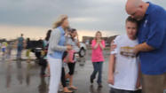Teachers comfort students after Oklahoma tornado