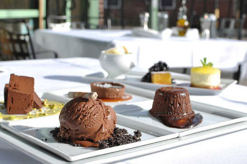 "Savor one of the many desserts at <a href=""http://www.billygrant.com/restaurant-bricco/"">Restaurant Bricco.</a>"