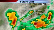 Today, we'll continue to get battered with strong and severe storms. We've had some storms in the morning moving to the east, and we'll continue to see more activity flare up throughout the afternoon.