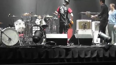 8-year-old drummer rocks out with Sum 41