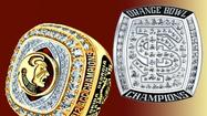 Florida State FSU Orange Bowl ACC rings