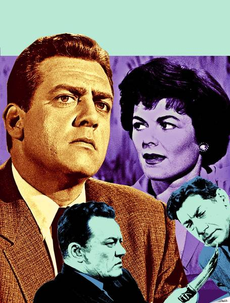 "Perry Mason, from left, Hamilton Burger and Della Street were three of the main characters in the popular 1950s show, ""Perry Mason."""