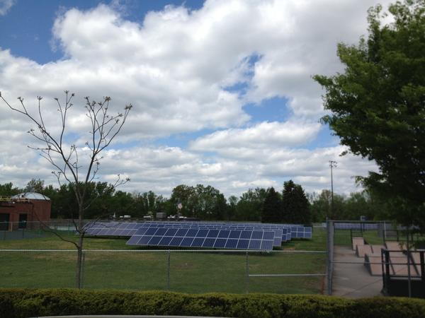 The town and Solar City are teaming up to install solar panels at the school bus yard and parks and recreation maintenance facility.
