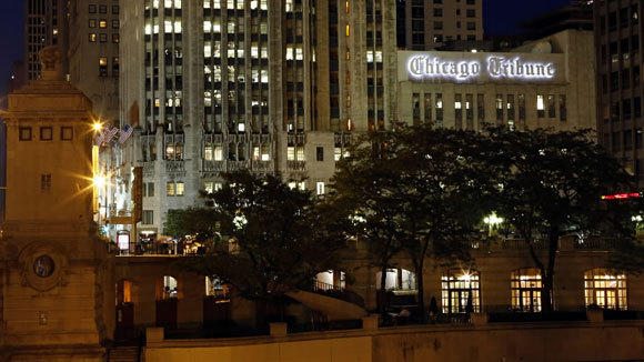 The Tribune Tower is shown in a September 2012 file photo.