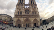 PARIS (Reuters) - Police evacuated Paris' Notre Dame cathedral on Tuesday after a well-known far-right former activist committed suicide by shooting himself in the mouth in front of its main altar, a police source said.