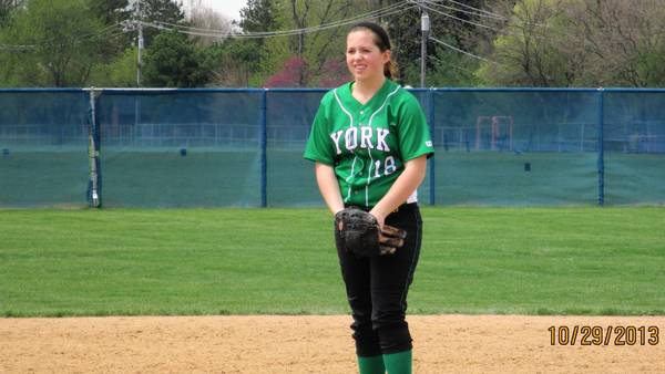 No. 18 Sophomore pitcher Brook Bandy is Yorks Ace