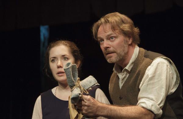 Alexandra Goodman and Bo Foxworth in 'The Crucible' at the Antaeus Company.