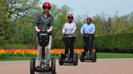 Visitors to Cantigny now have the option of gliding through the park on a Segway. Guided tours using the personal transporters are available starting tomorrow, May 22.